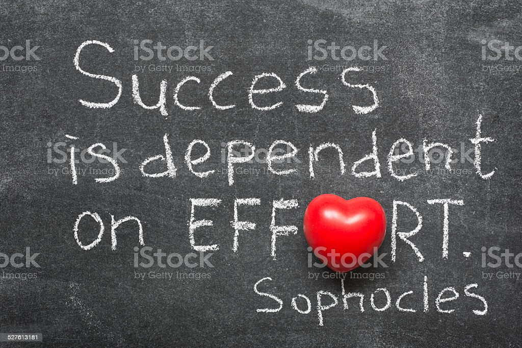 success is dependent stock photo
