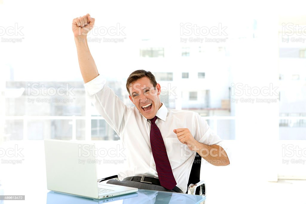 Success is exciting stock photo