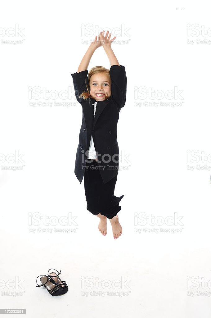 Success Jump royalty-free stock photo
