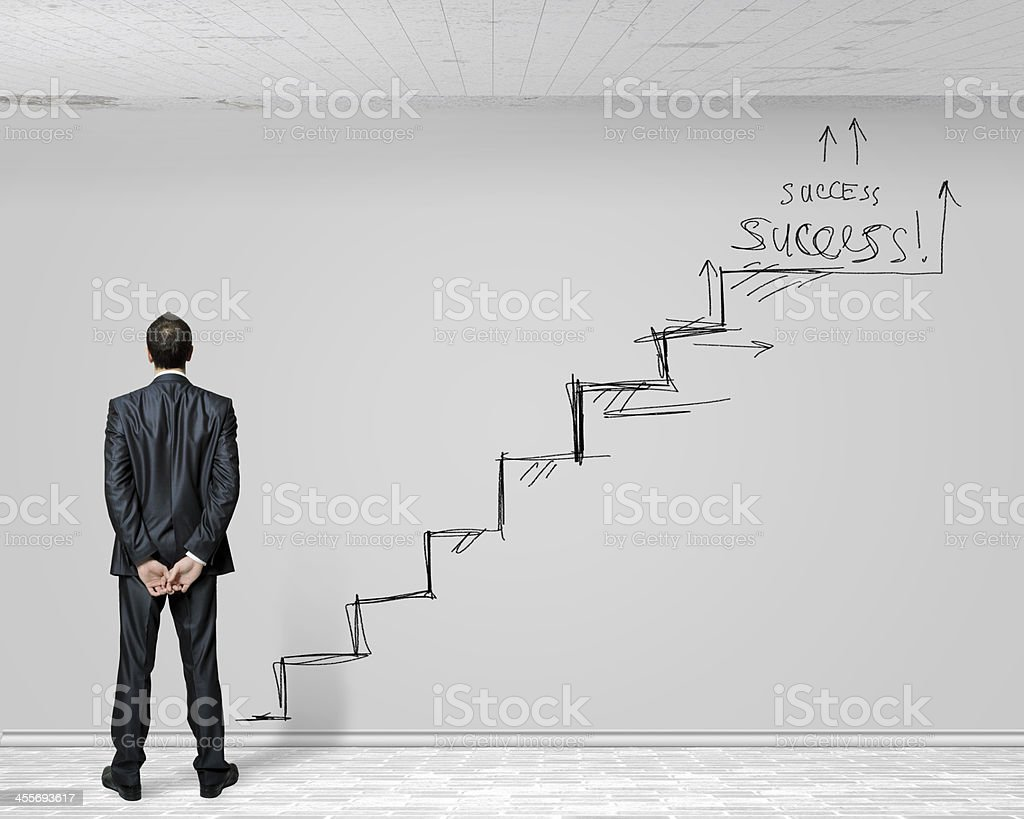 Success ladder stock photo