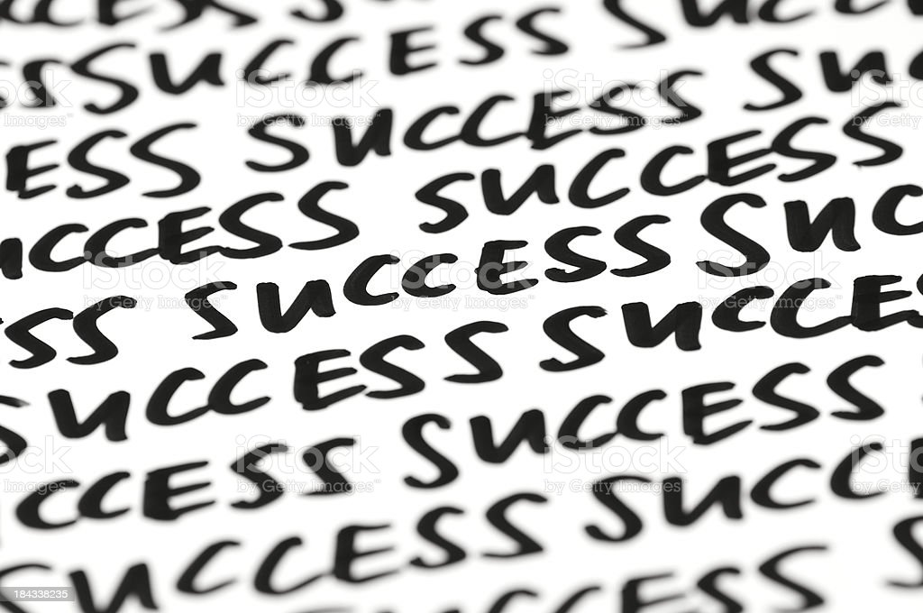Success Message Handwritten Background royalty-free stock photo