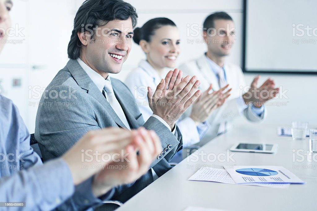 Success new project presentation royalty-free stock photo