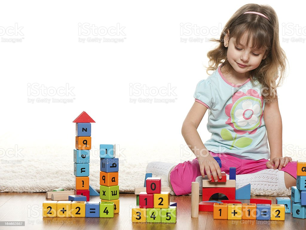 Success of a little girl royalty-free stock photo