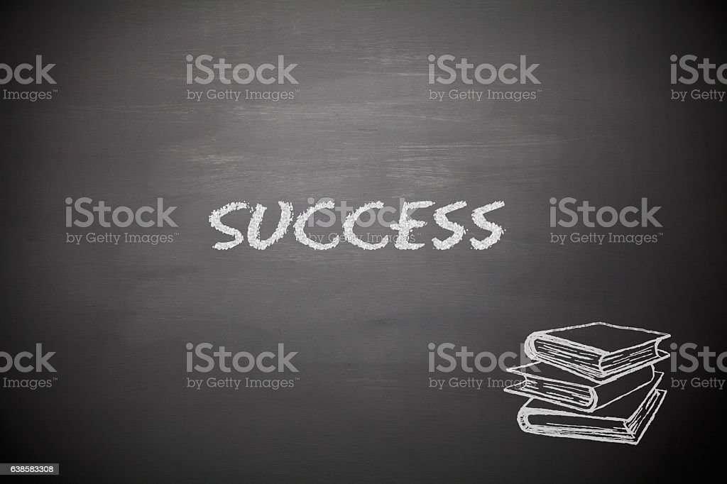 Success on blackboard stock photo