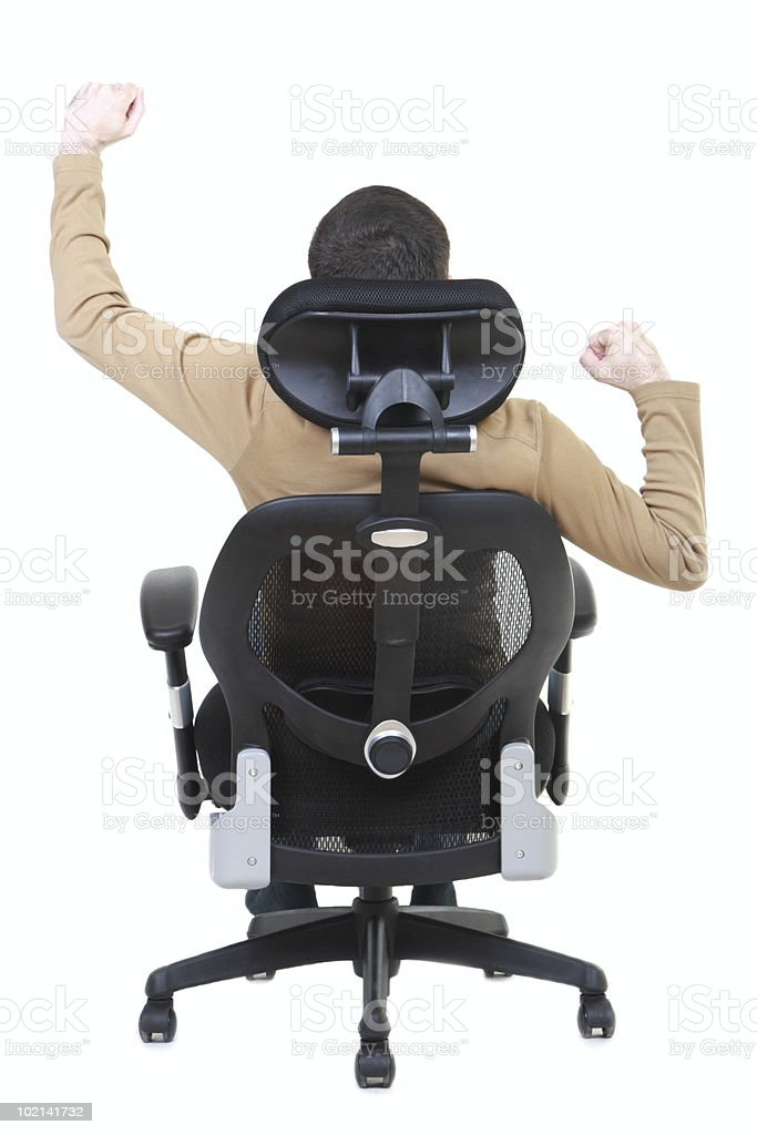 Success! (office chair series) royalty-free stock photo