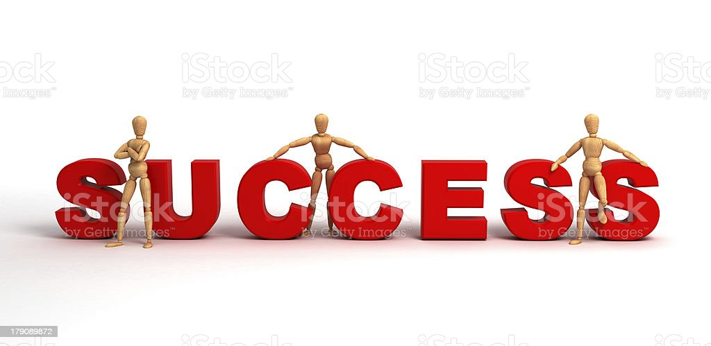Success (With clipping path) royalty-free stock photo