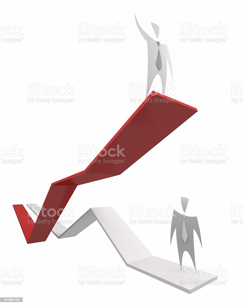 Success (business diagram) royalty-free stock photo