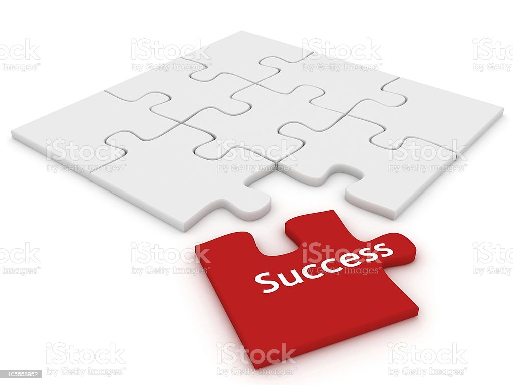 Success Puzzle stock photo