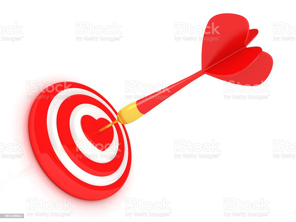 Success red dart stock photo