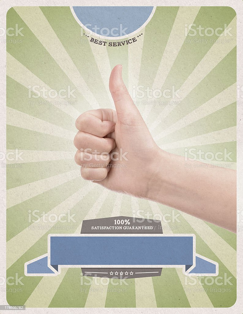 Success retro style poster template royalty-free stock photo