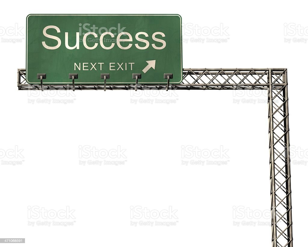成功の道路標識ホワイト ロイヤリティフリーストックフォト