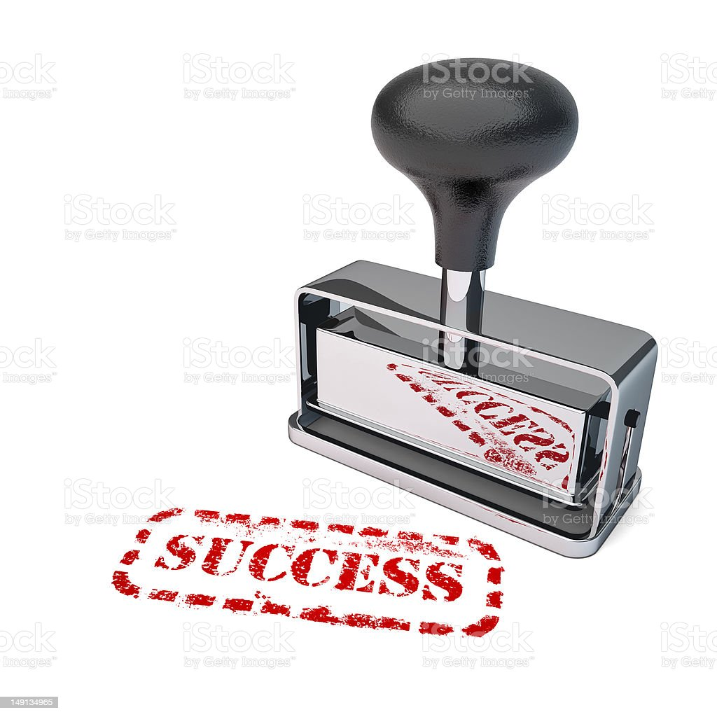 Success Rubber Stamp royalty-free stock photo