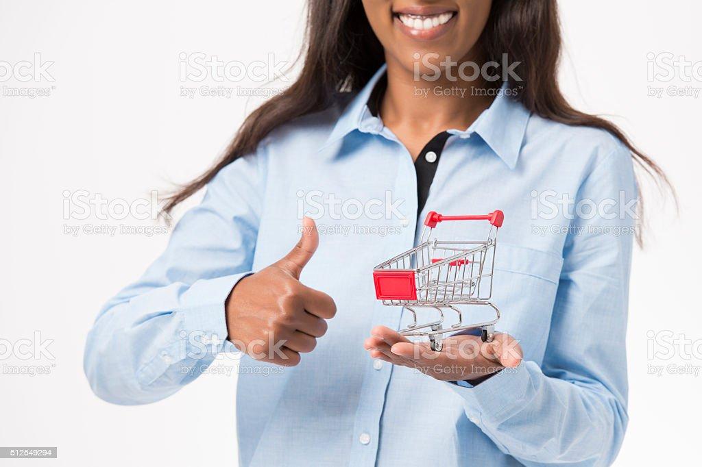 Success shopping. stock photo