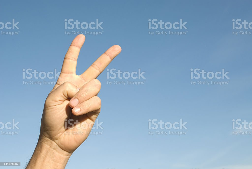 Success sign royalty-free stock photo