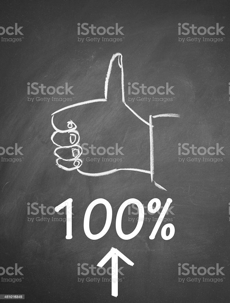 success sign stock photo