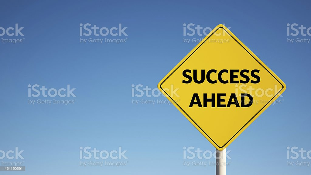 Success Sign with Clipping Path royalty-free stock photo