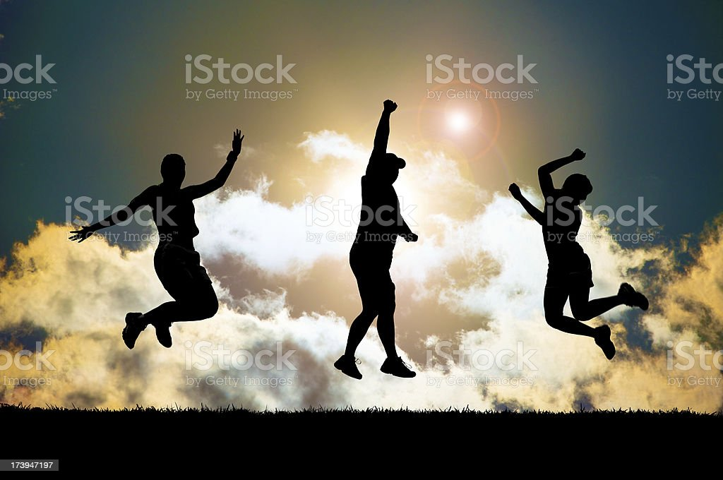 success silhouette royalty-free stock photo