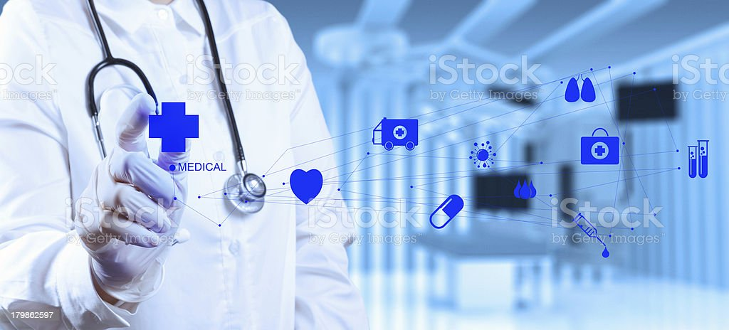 success smart medical doctor working with operating room royalty-free stock photo