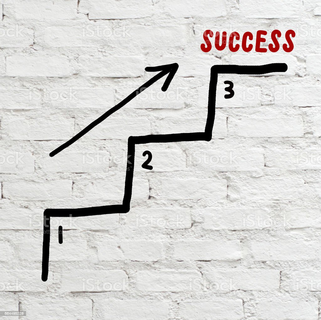Success steps, business concept, abstract background stock photo