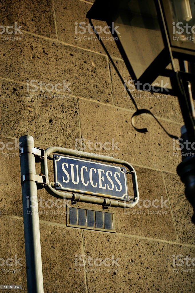 Success Street royalty-free stock photo