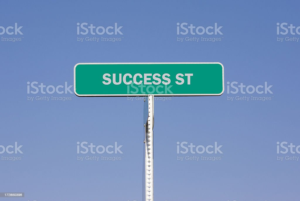 Success Street - Sign royalty-free stock photo