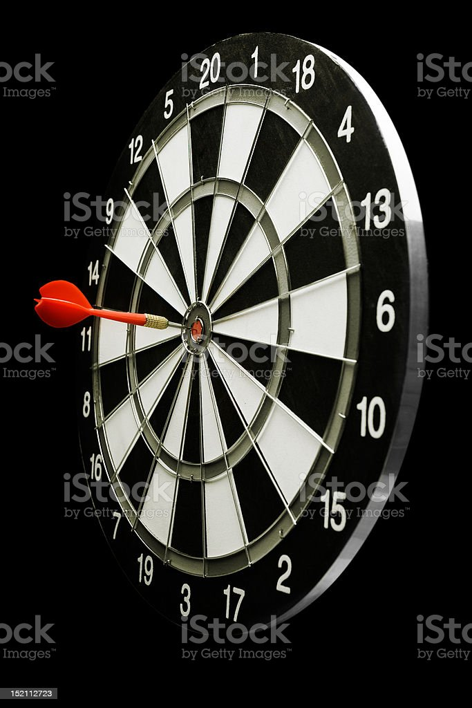 Success! Target with an arrow in the center royalty-free stock photo
