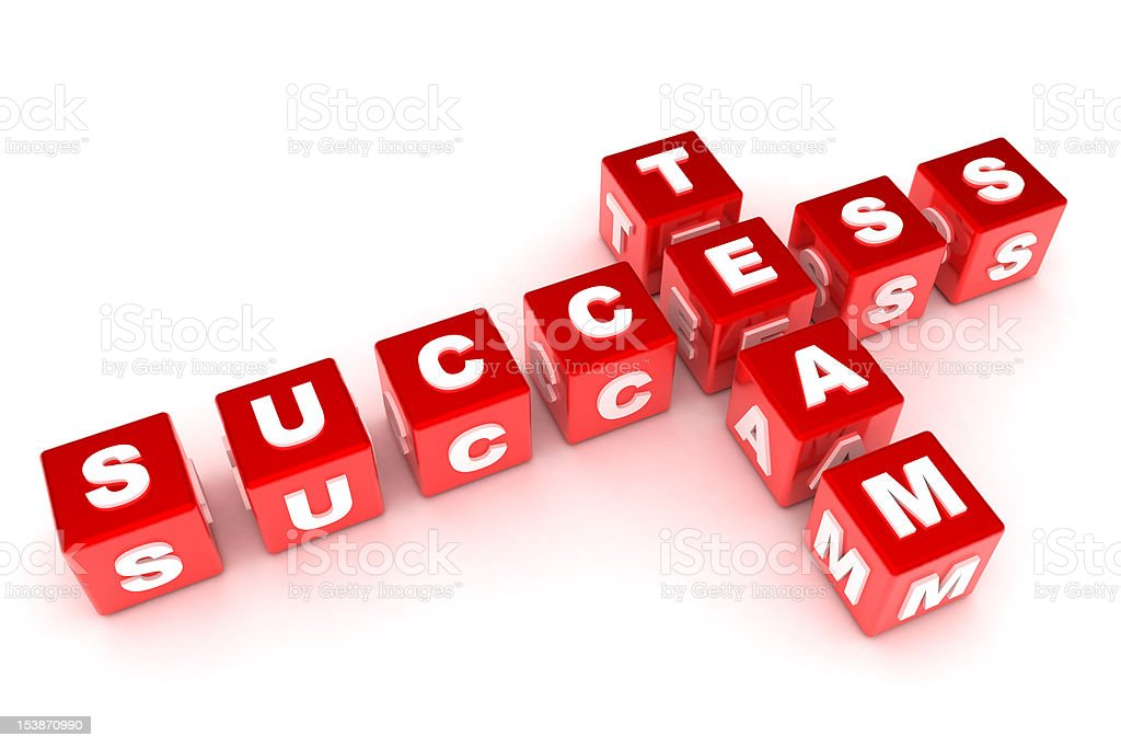 Success / Team Crossword royalty-free stock photo