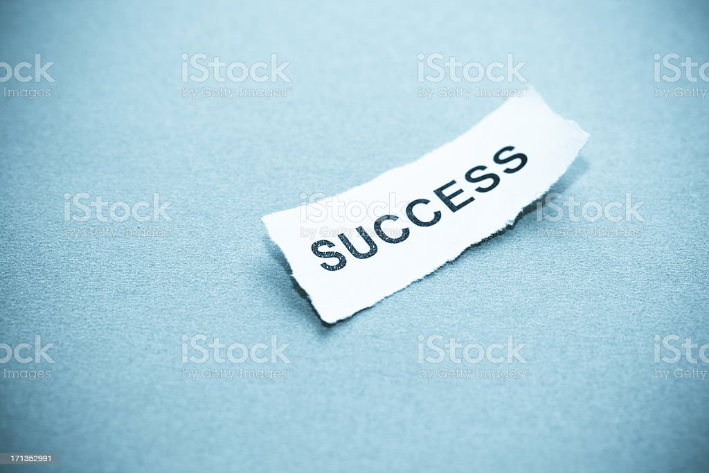 success text on curved paper royalty-free stock photo