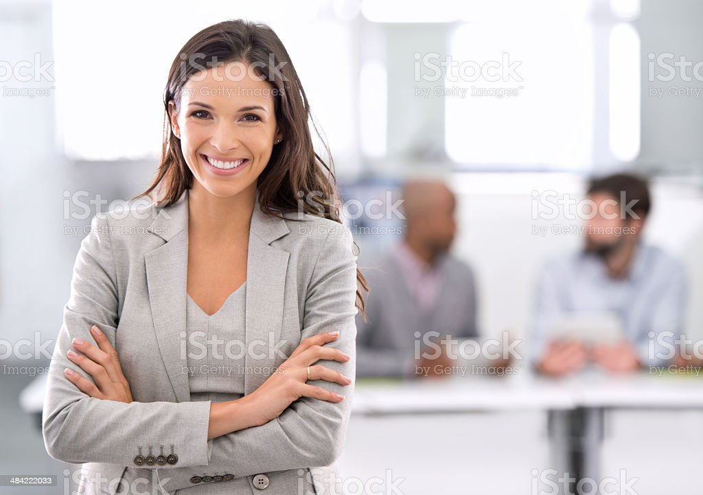 Success was always going to be her's! stock photo