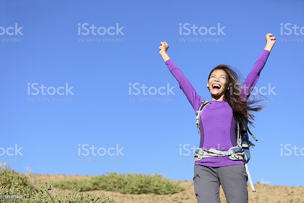 success woman happy outside royalty-free stock photo