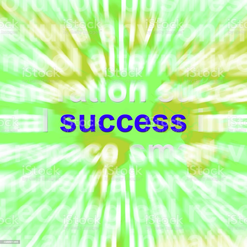 Success Word Cloud Shows Succeed Winning Triumph And Victories royalty-free stock photo