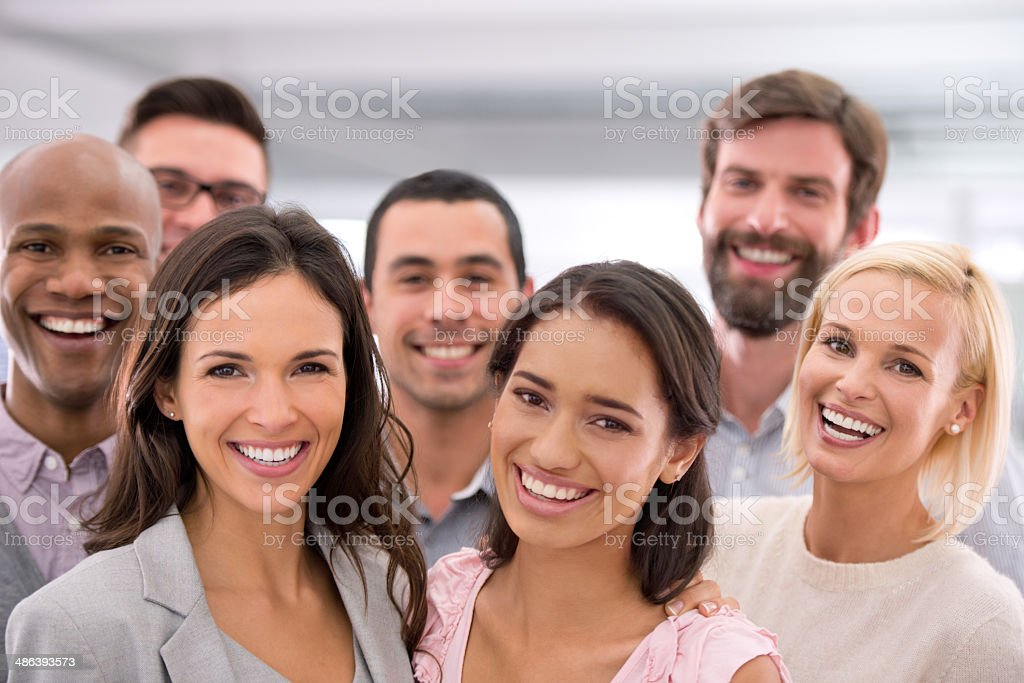 Success would put a smile on your face too stock photo