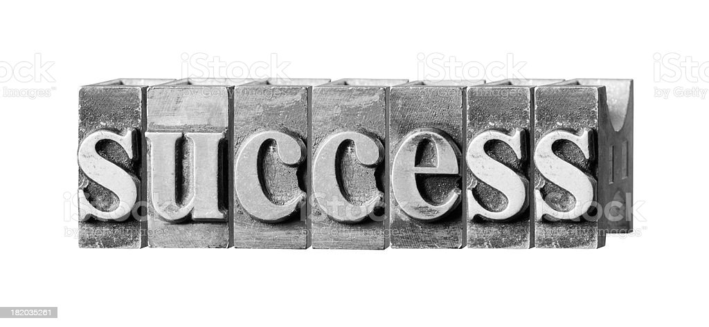 Success written in metal printing press letters royalty-free stock photo