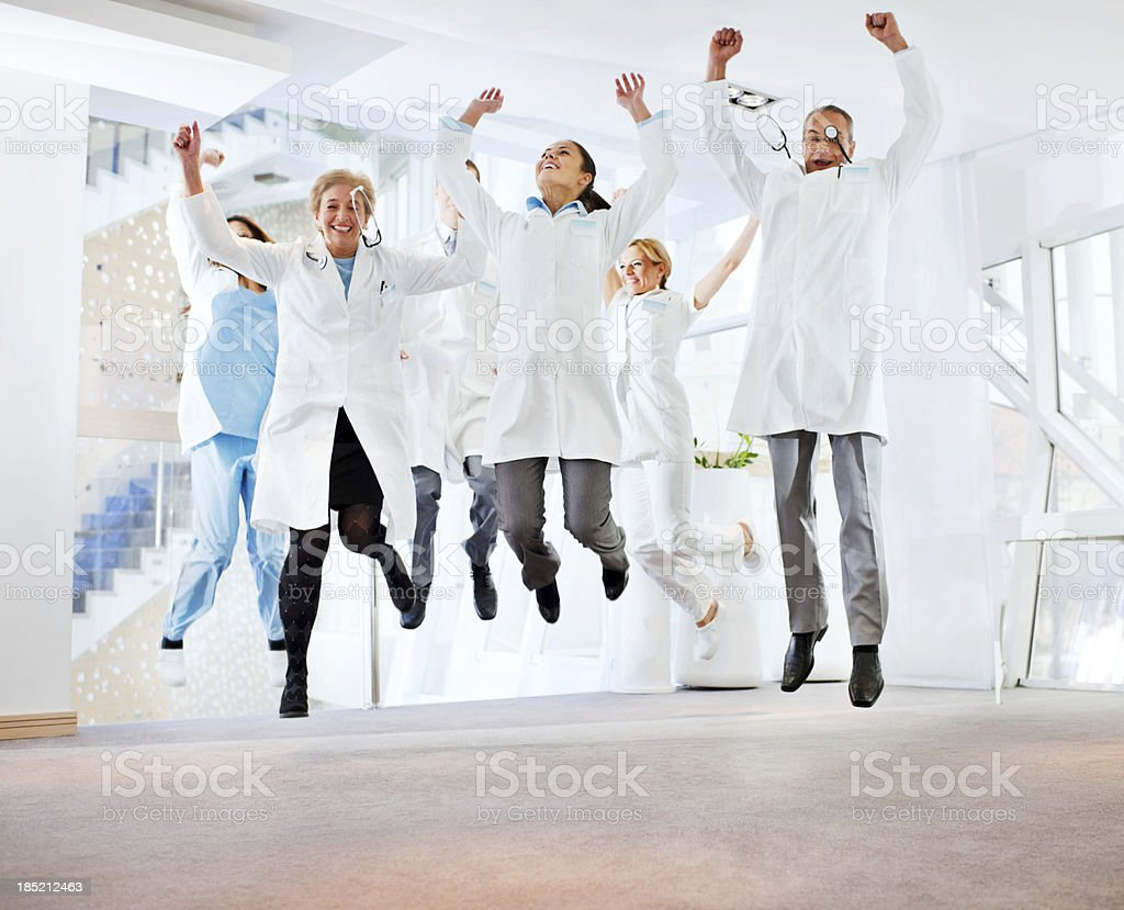 Successes team of doctors. royalty-free stock photo
