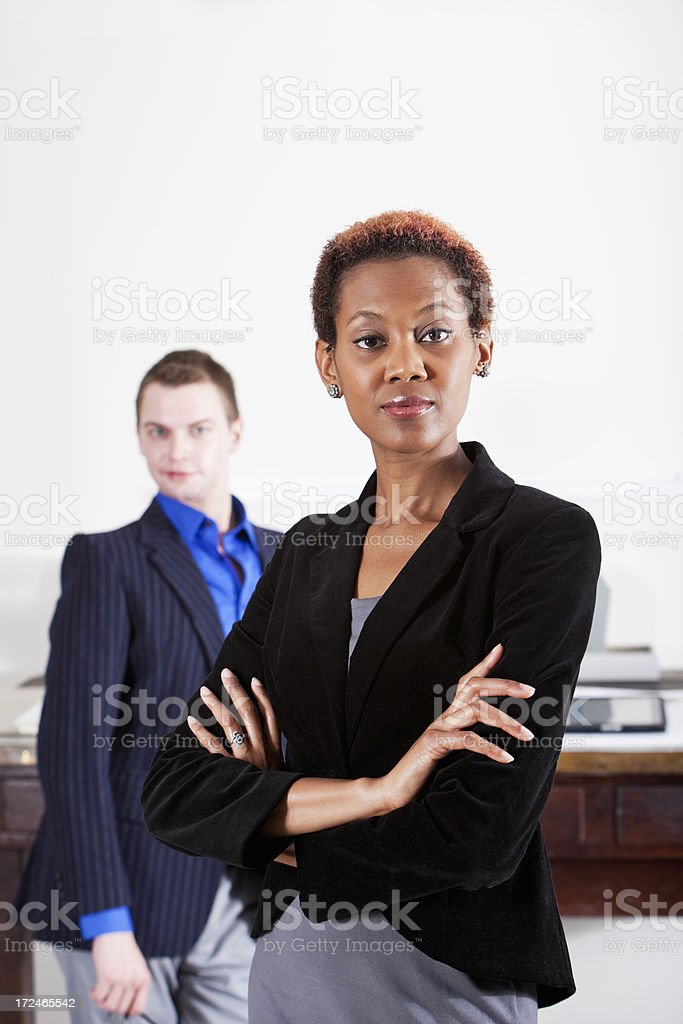 Successful African American business woman stock photo