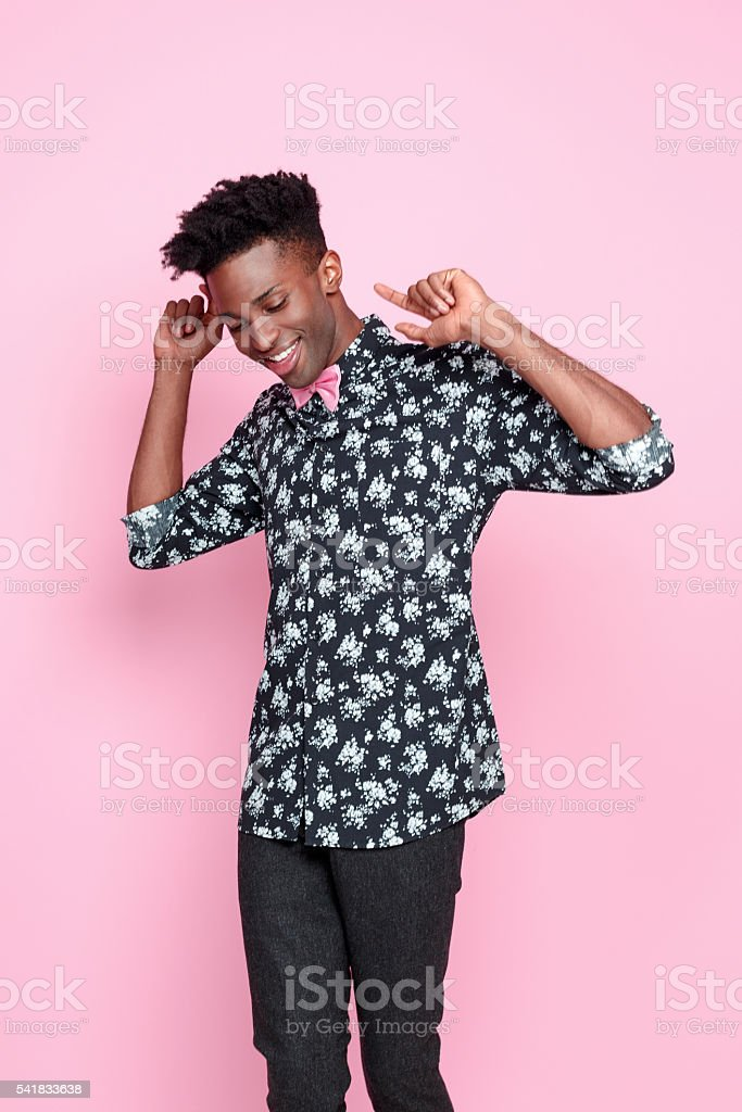 Successful afro american young man stock photo