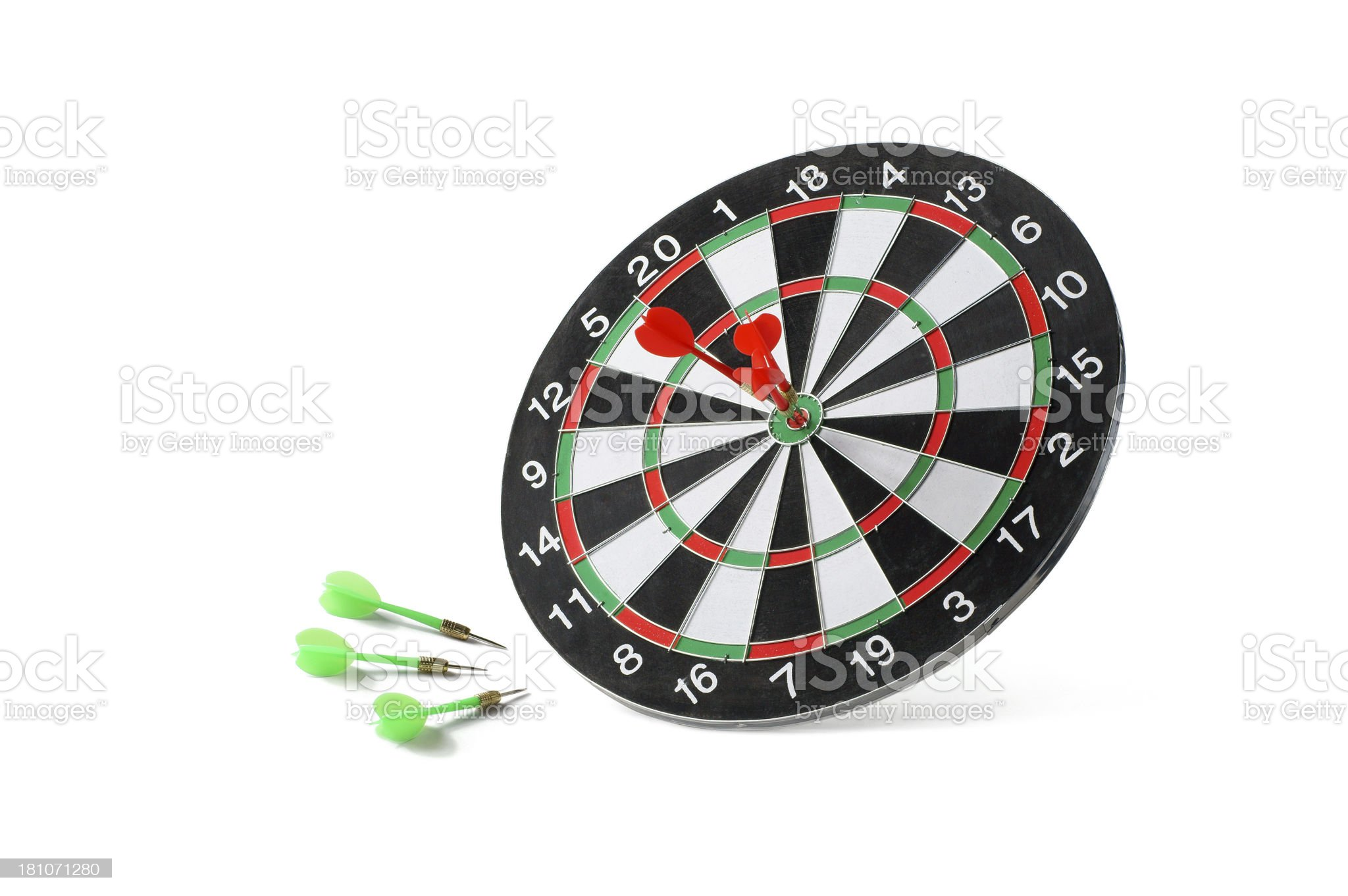 Successful and Failure Target royalty-free stock photo