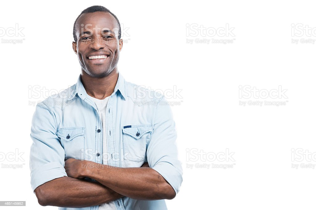 Successful and happy man. stock photo