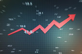 Successful arrows with economic data, stock market data