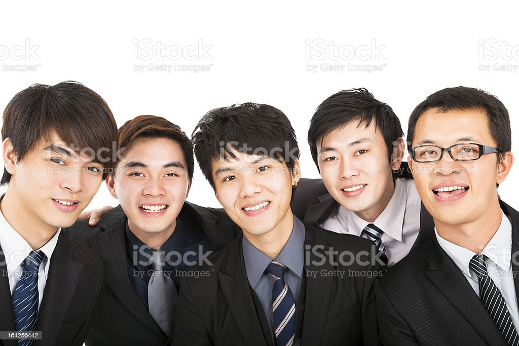 successful asian business team royalty-free stock photo