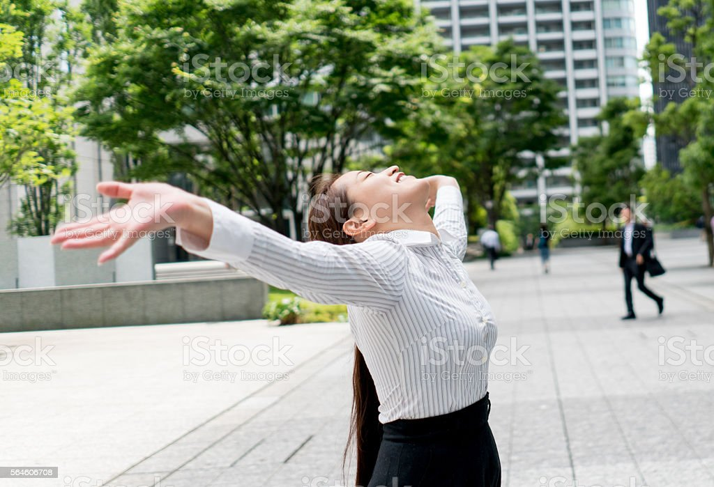 Successful Asian business woman stock photo