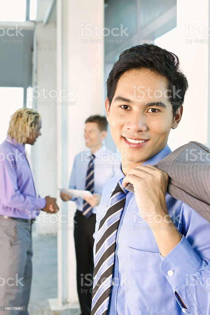 Successful Asian businessman royalty-free stock photo