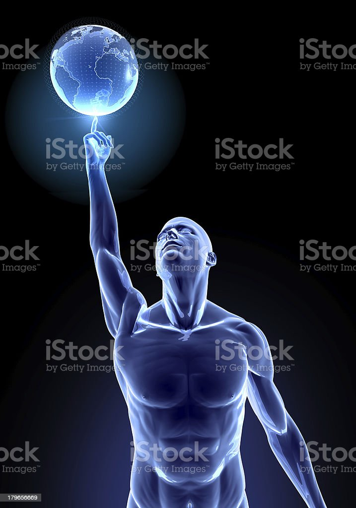 Successful Basketballer and World stock photo