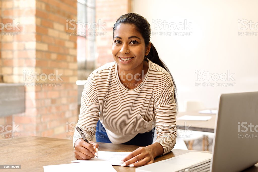 Successful bloger stock photo