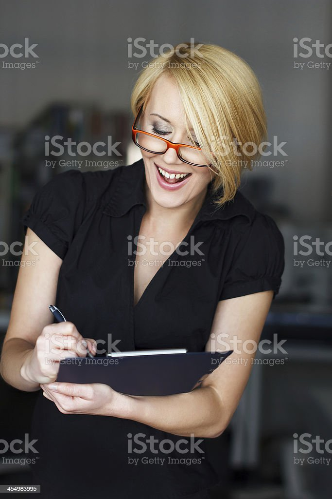 Successful blonde businesswoman royalty-free stock photo