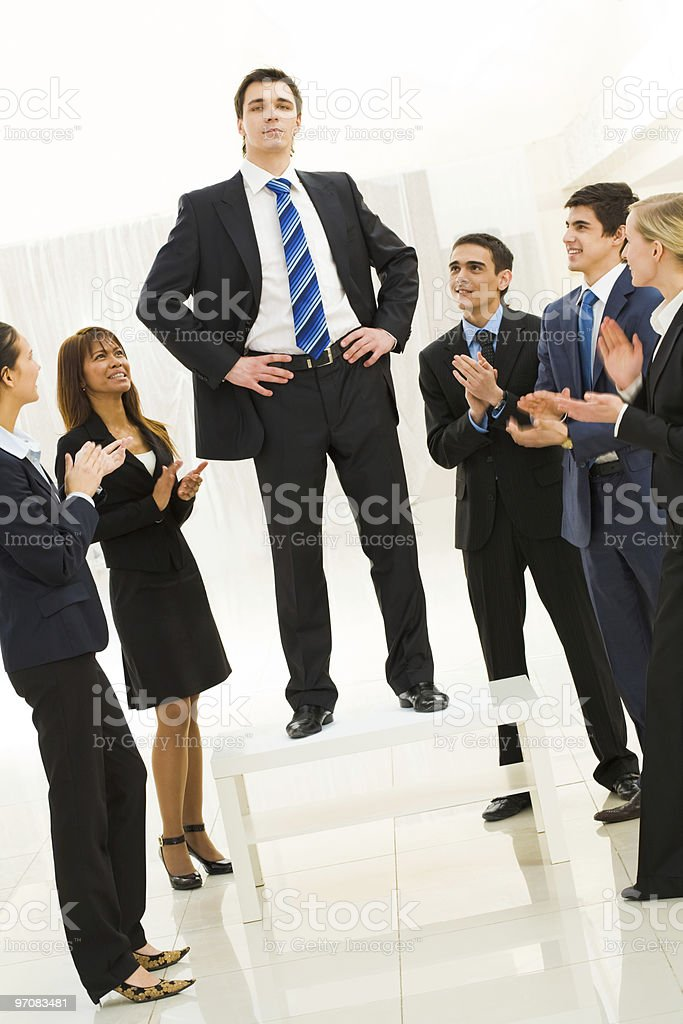 Successful boss stock photo