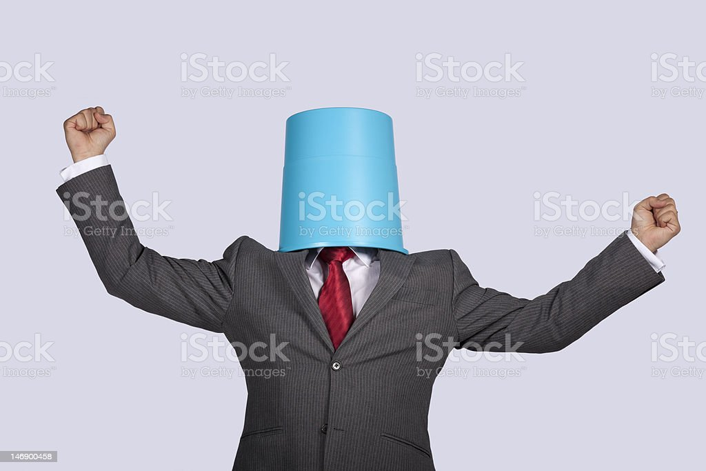 Successful bucket head businessman royalty-free stock photo