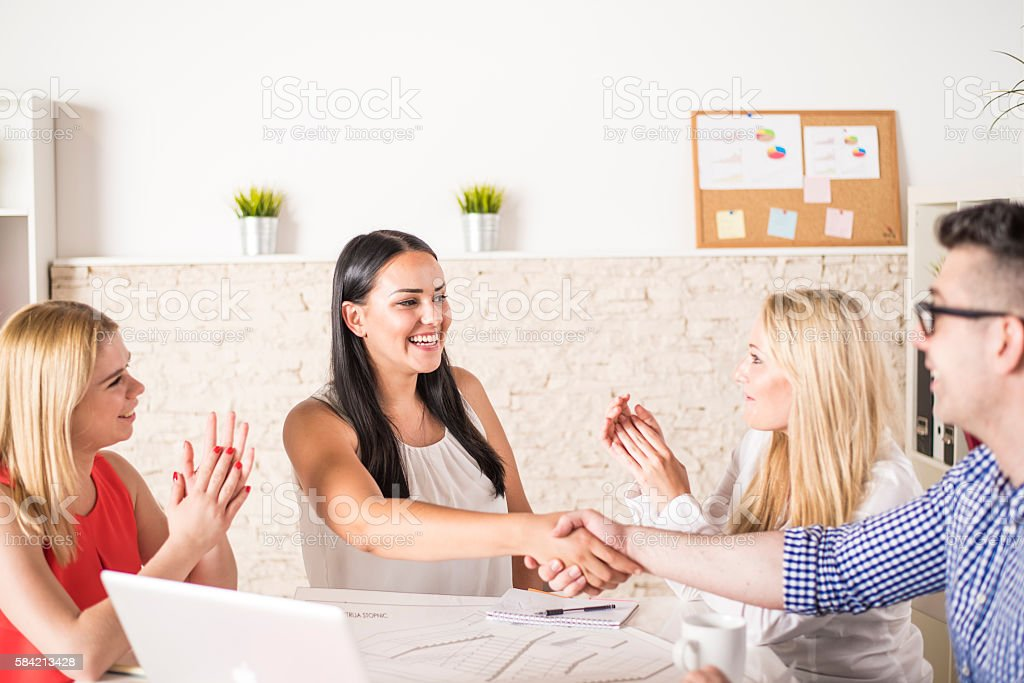 Successful business agreement stock photo
