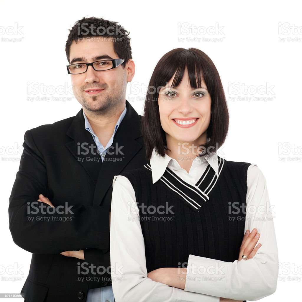 Successful business couple royalty-free stock photo