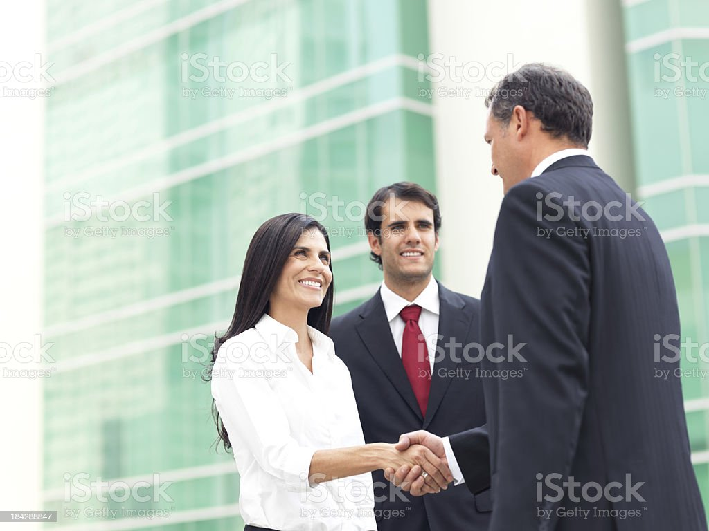 Successful business deal royalty-free stock photo